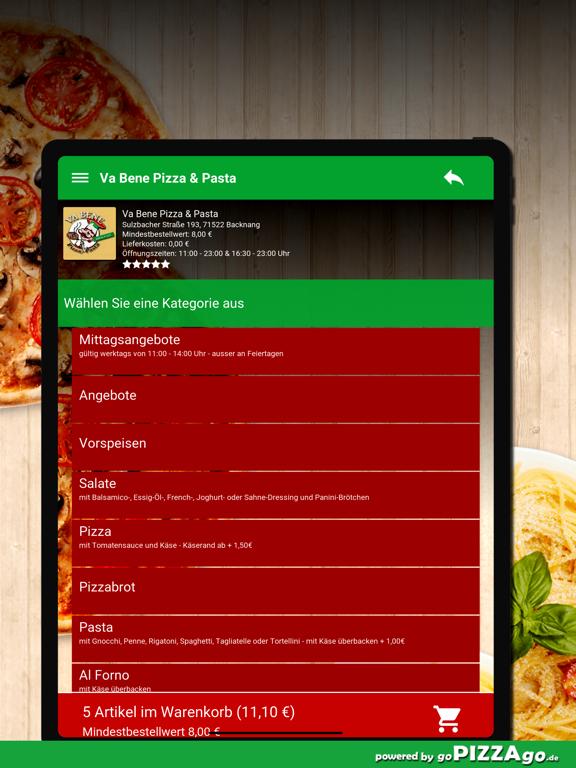 Va Bene Pizza - Pasta Backnang screenshot 8