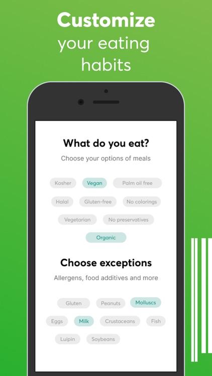 Food scanner: gluten, allergen