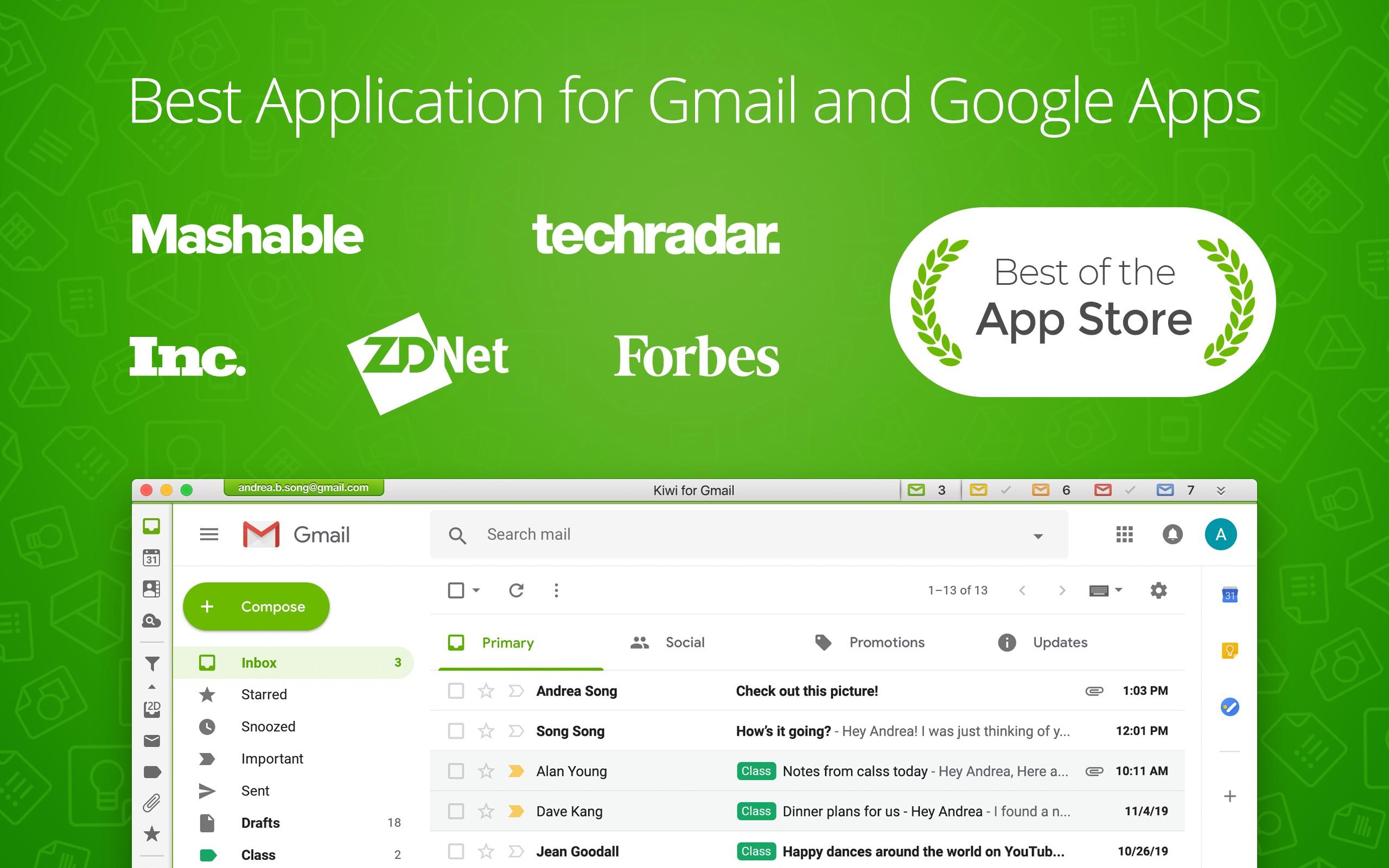 Screenshot do app Kiwi for Gmail