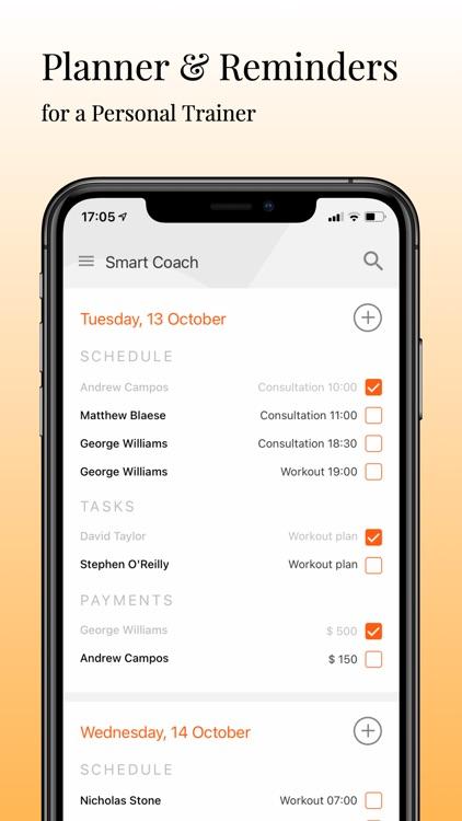 Smart Coach - prof. assistant screenshot-4
