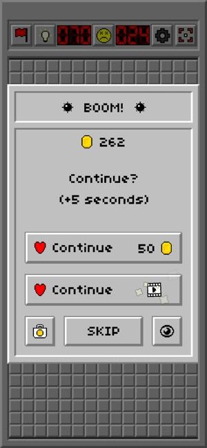 Minesweeper retro game