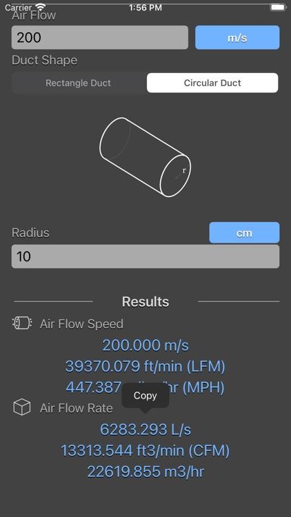 Air Flow Conversion Calculator screenshot-3