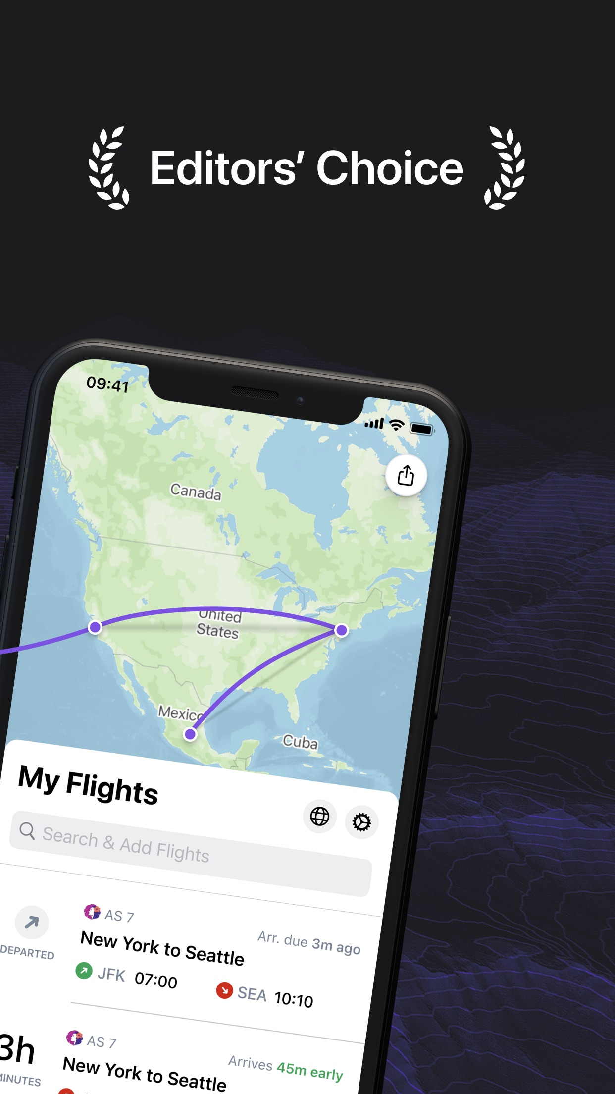Screenshot do app Flighty - All Airlines Tracker