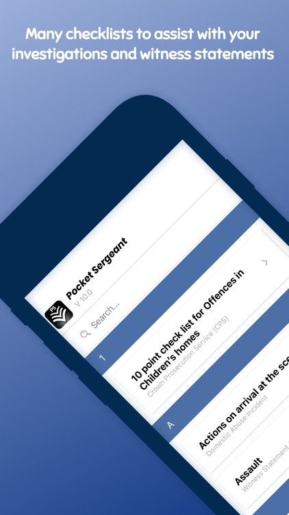 Pocket Sergeant - Police Guide screenshot-3