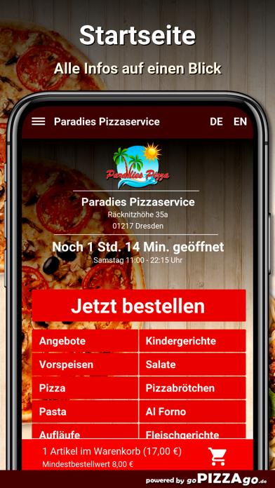 Paradies Pizzaservice Dresden screenshot 2