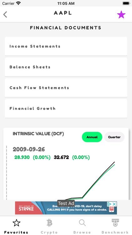 Ticker: Stocks & Crypto