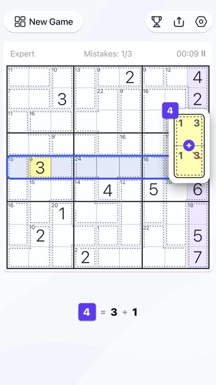 Killer Sudoku - Puzzle Games screenshot-3