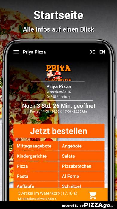 Priya Pizza Altenburg screenshot 2