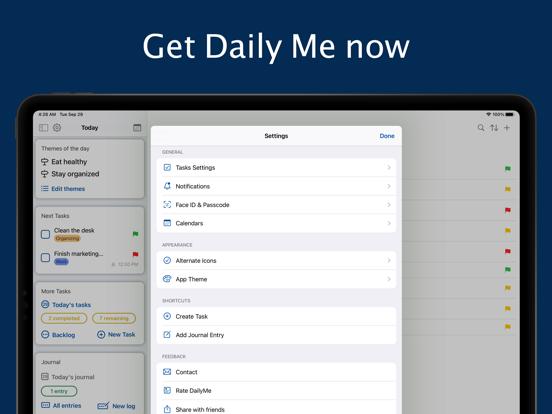 Daily Me: Themes, Tasks, Diary screenshot 13