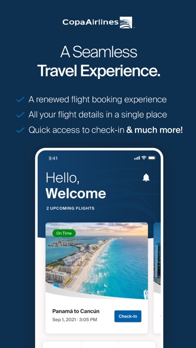 messages.download Copa Airlines software