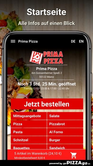Prima Pizza Mainz screenshot 1