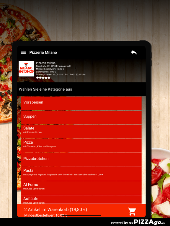 Pizzeria Milano Herzogenrath screenshot 8