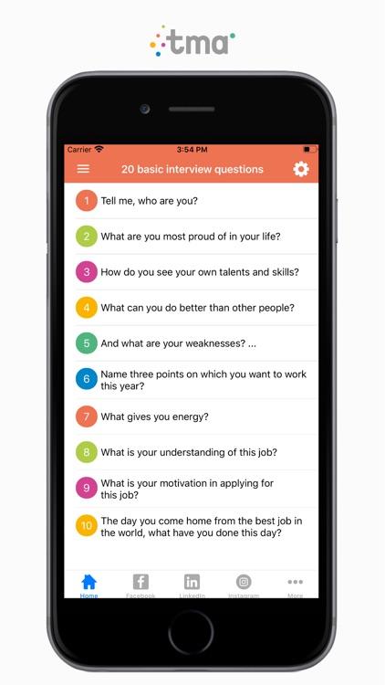 TMA Job Interview Questions