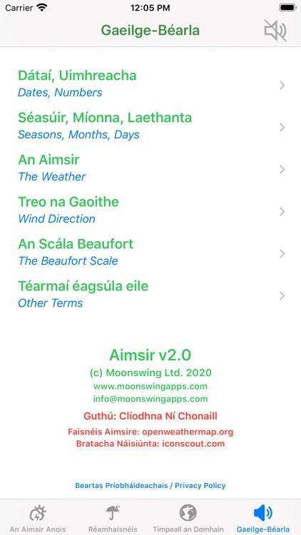 Aimsir - The Weather in Irish screenshot-6