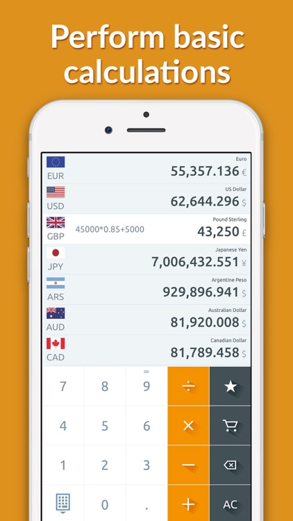 Currency converter, live rates screenshot-3