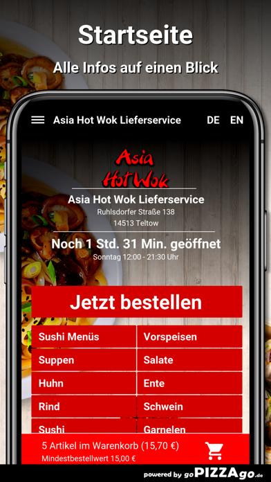 Asia Hot Wok Teltow screenshot 2