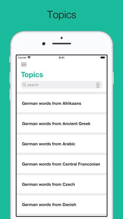 Dictionary of German language screenshot-5