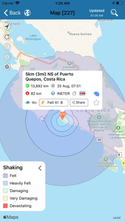 Earthquake+ Alerts, Map & Info screenshot-4