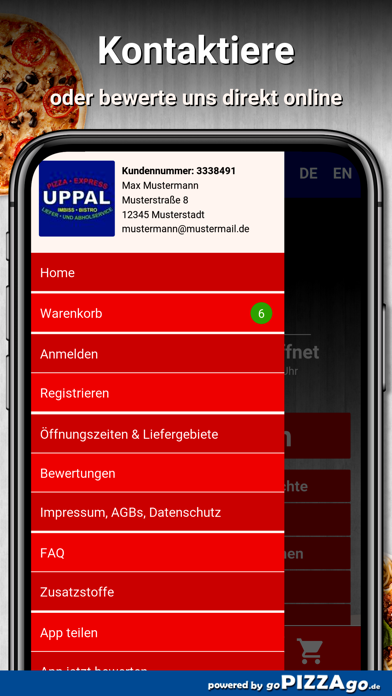 Uppal Pizza Express Metzingen screenshot 3
