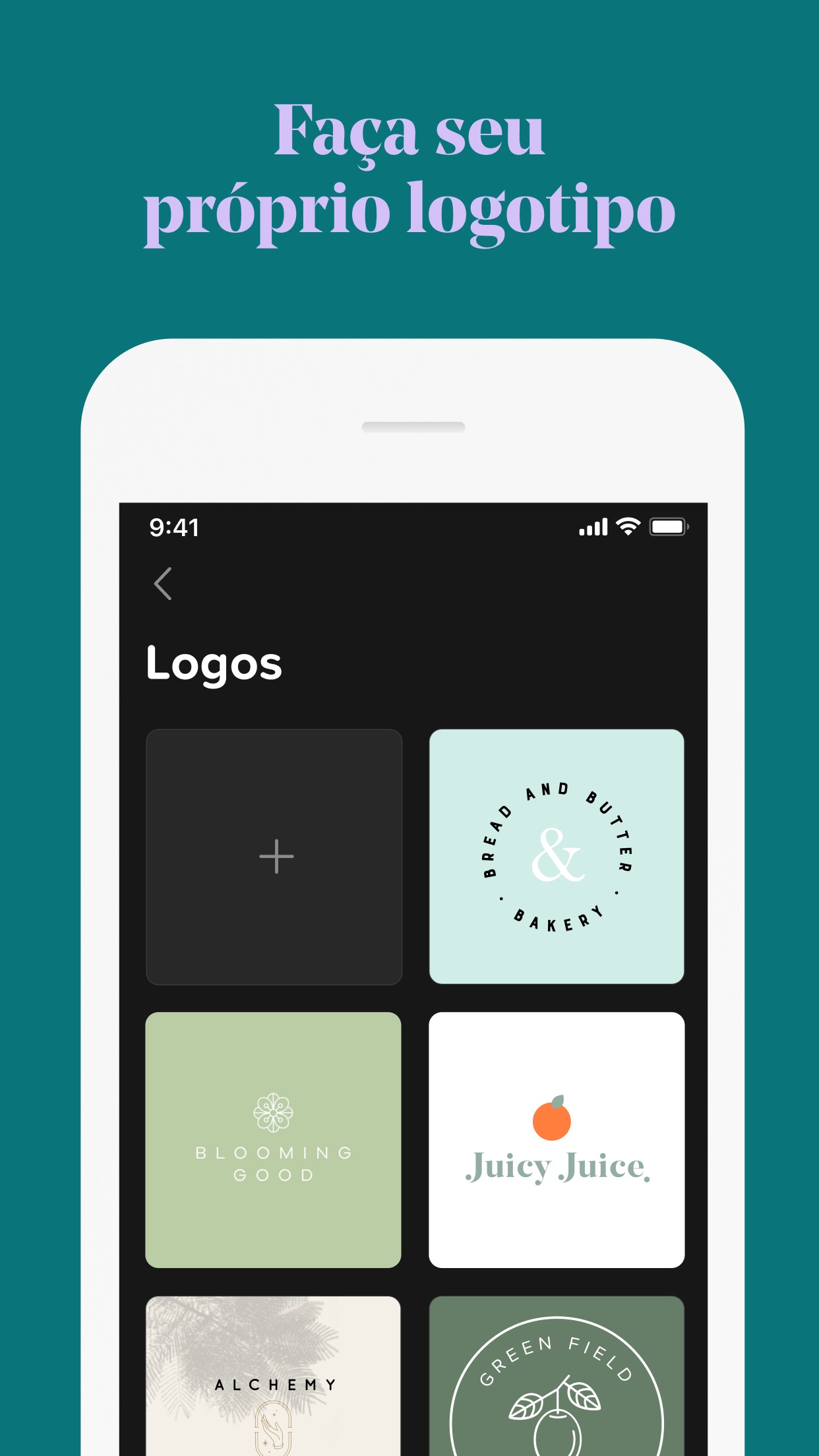 Screenshot do app GoDaddy Studio: Design Gráfico