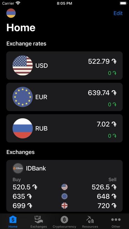 Exchange rates of Armenia screenshot-5