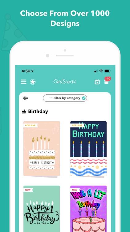 CardSnacks: ecards, greetings screenshot-6