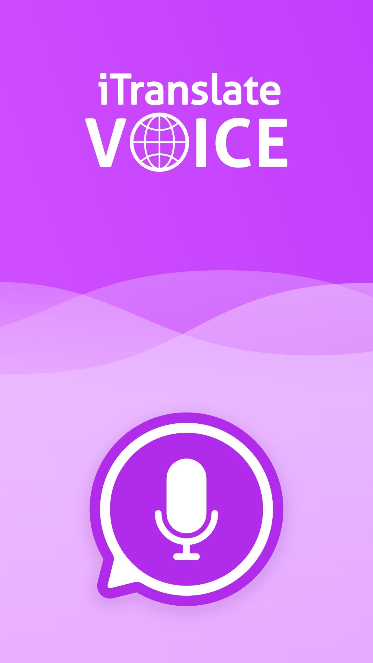 Screenshot do app iTranslate Voice