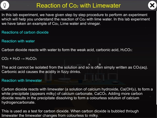 Reaction of Co2 with Limewater screenshot 8