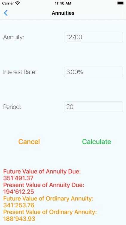 Financial Mathematics Calc screenshot-5