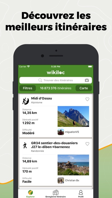 Screenshot #1 pour Wikiloc Navigation Outdoor GPS