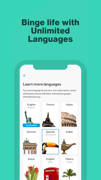 cancel Rosetta Stone: Learn Languages app subscription image 1