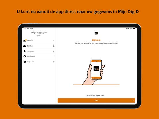 DigiD iPad app afbeelding 5