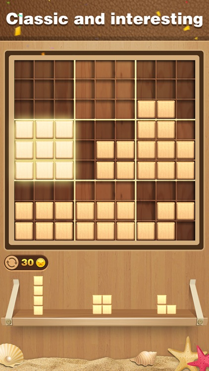Wood Block Sudoku Puzzle screenshot-3
