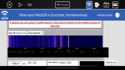 WebSDR Screenshot
