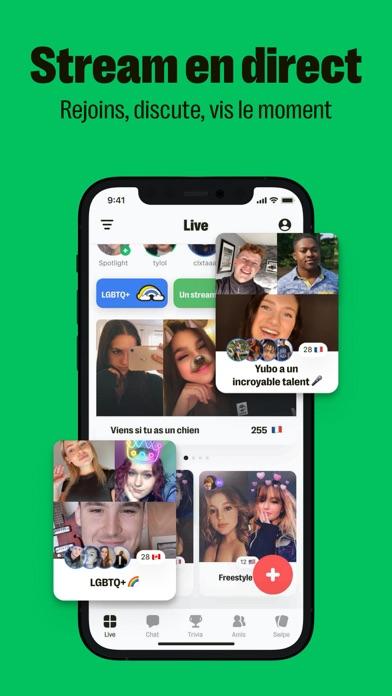 Yubo - Stream avec tes amis