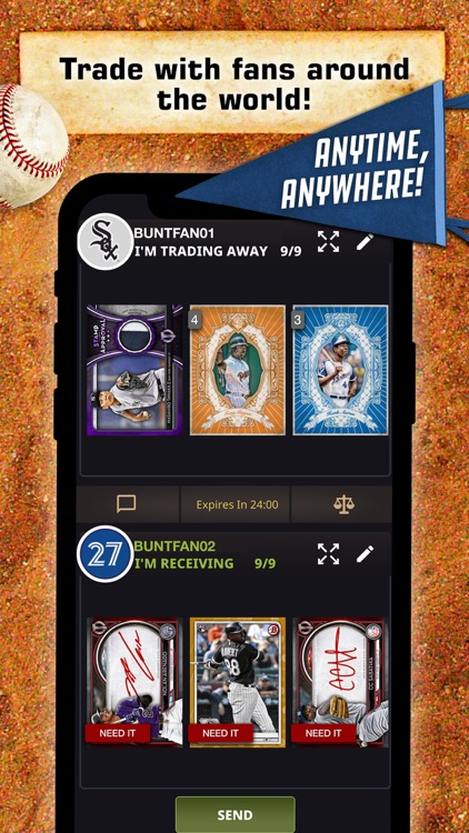 Topps® BUNT® MLB Card Trader
