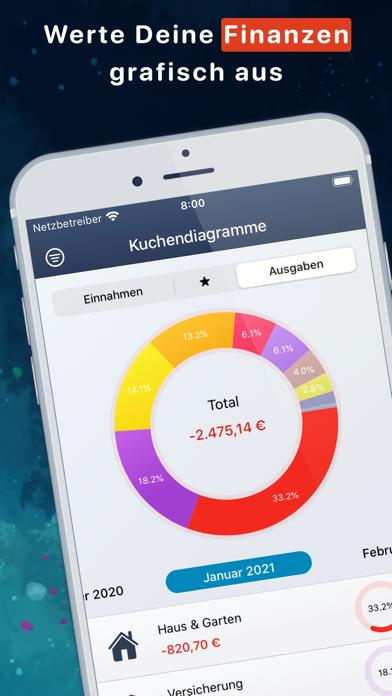 Haushaltsbuch MoneyStatsScreenshot von 1