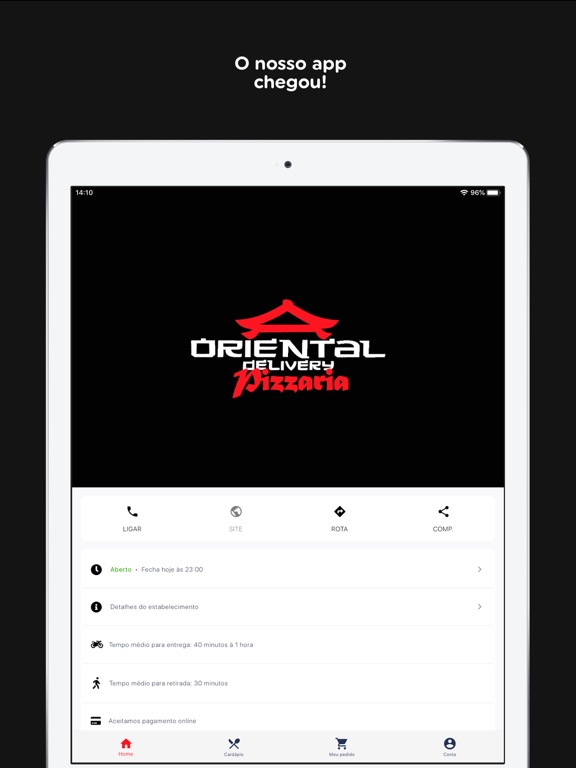 Oriental Delivery Pizzaria screenshot 7