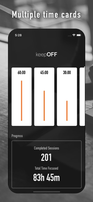 ‎keepOFF -  Timer for Learning Screenshot