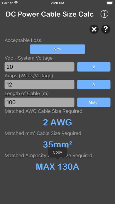 点击获取DC Power Cable Size Calc