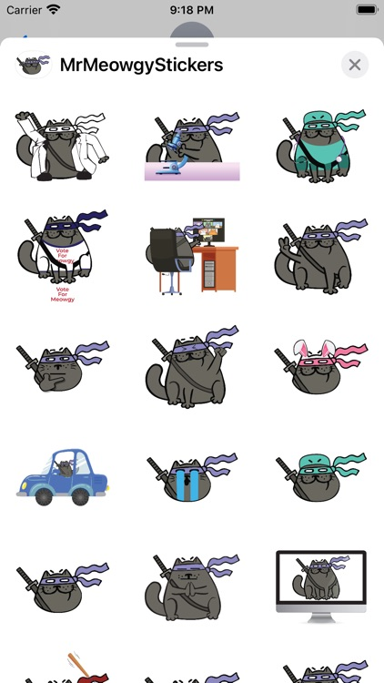 Mr. Meowgy Stickers