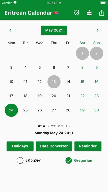 Eritrean Calendar - Tigrinya screenshot-6