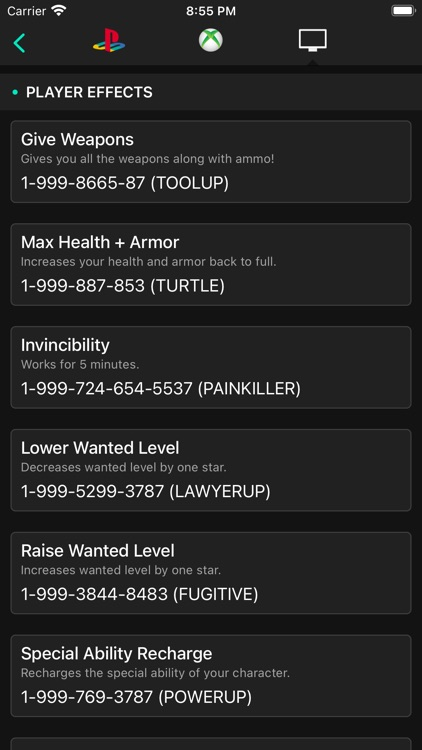 All Cheats for GTA V (5) screenshot-3