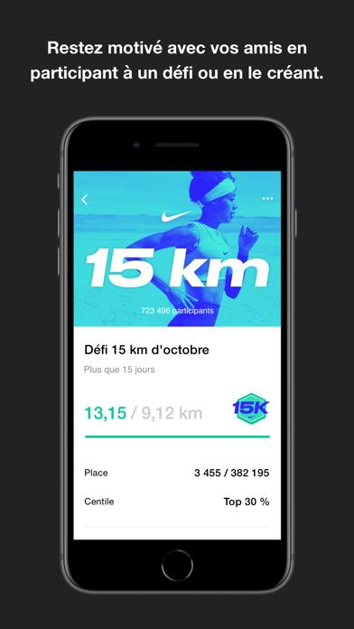 Nike Run Club iphone captures décran