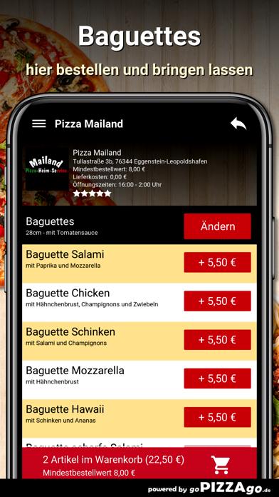 Pizza Mailand Eggenstein-Leopo screenshot 4