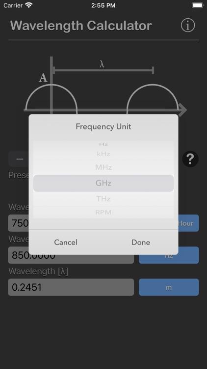 Wavelength Calculator screenshot-6