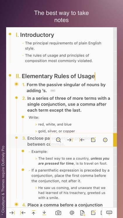 Outlinely - Outliner & notes screenshot-5