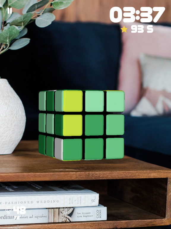 Ipad Screen Shot Rubiks Cube AR 6