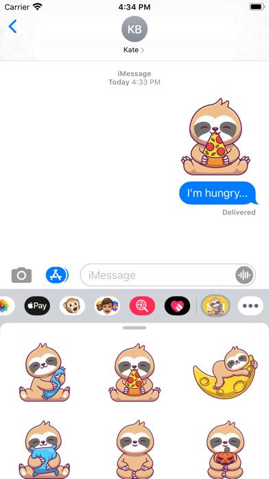 Sleepy Sloth Stickers screenshot 1