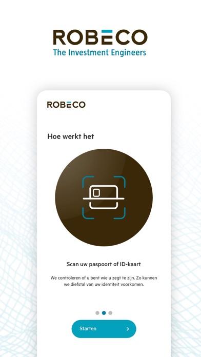 Robeco Identificatie iPhone app afbeelding 2